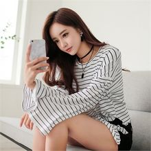 Babi n Pumkin - Bell-Sleeve Knot-Front Striped Top