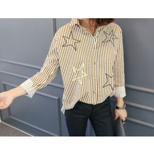 DANI LOVE - Star-Patterned Stripe Shirt