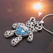 Mille - Swarovski Elements Bear Pendant Necklace