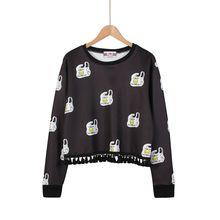 Momewear - Long-Sleeve Printed Tasseled Top