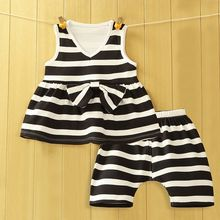 Madou - Kids Set: Striped T-Shirt + Pants