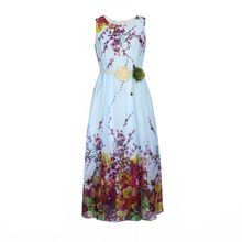 Flore - Sleeveless Floral Chiffon Dress