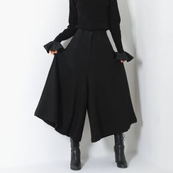 FASHION DIVA - Zip-Front Long Culottes