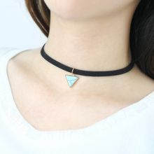 Darlin - Faux Suede Triangle Choker
