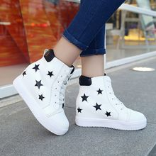 Ginko - Hidden Wedge Platform Star-Print Shoes