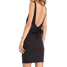Richcoco - Open Back Sleeveless Mini Dress