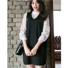 Dowisi - Set: Long-Sleeve lace Top + Jumper Dress