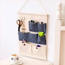 Maltose - Patterned Linen Cotton Wall Hanging Organizer