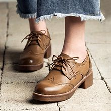 MIAOLV - Lace-Up Wingtip Shoes