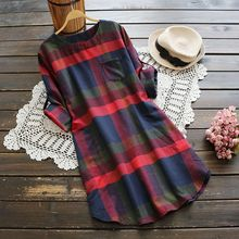 YOYO - Plaid Shift Dress