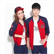 Lovebirds - Set: Couple Baseball Jacket + T-Shirt + Pants