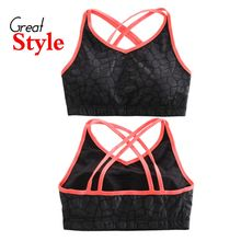 The Sister Shop - Cross Strap Back Wireless Sports Bra