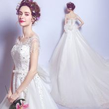 Angel Bridal - Beaded Lace Ball Gown Wedding Dress