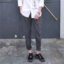 MITOSHOP - Pinstriped Tapered Pants