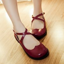 Freesia - Cross Strap Mary Jane Flats