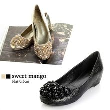 SWEET MANGO - Beads Embellished Hidden-Heel Flats