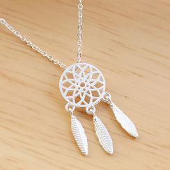 Blinglitz - Dream Catcher Pendant Necklace