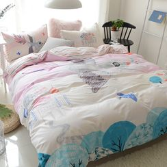 Petrie - Bedding Set: Printed Duvet Cover + Bed Sheet + Pillowcase