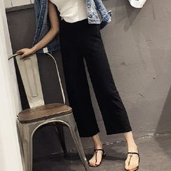monroll - Cropped Wide Leg Pants