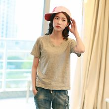 Lina - Short Sleeve V-Neck T-Shirt
