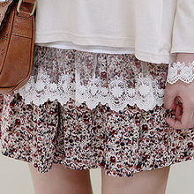 Sechuna - Band-Waist Floral-Patterned Skirt