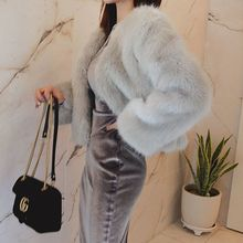 Seoul Fashion - Open-Front Faux-Fur Jacket