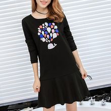 Q.C.T - Print Long-Sleeve Dress