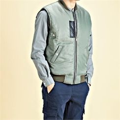 THE COVER - Padded Zip-Up Vest