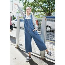 GOROKE - Buttoned Wide-Leg Denim Jumper Pants