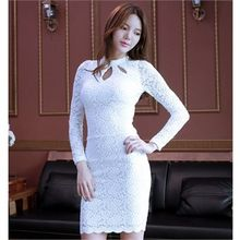 clubber - Eyelet-Detail Lace Bodycon Dress