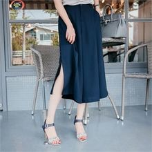 JOAMOM - Slit-Side Wide-Leg Pants