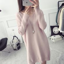 efolin - V-Neck Mini Sweater Dress