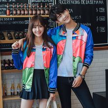 TOOI - Couple Matching Printed Baseball Jacket
