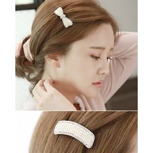 Miss21 Korea - Faux-Pearl Hair Barrette (2 Designs)