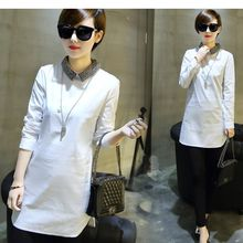 Oaksa - Embellished Collar Long Blouse