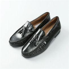 THE COVER - Faux-Leather Tassel-Detail Loafers