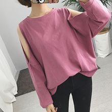 Cloud Nine - Cutout Shoulder Cropped T-Shirt
