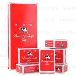 Cow Brand Soap - Beauty Soap (Moisture Rose) (Red)