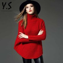 Y:Q - Turtleneck Ribbed Knit Top