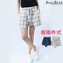 RingBear - Mock Two-Pieces Skorts