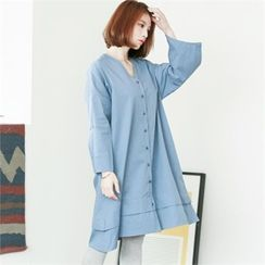 GLAM12 - V-Neck Shirtdress