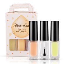 Hope Girl - Keratin Nail Care Set: Base Coat 4g + Top Coat 4g + Nail Strengthener 4g