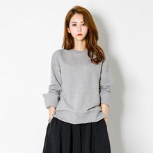 FASHION DIVA - Drop-Shoulder Slit-Cuff Sweatshirt
