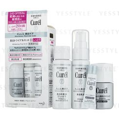Kao - Curel Whitening Trial Kit II: Lotion 30ml + Essence 3g + Milk 30ml + UV Milk 10ml