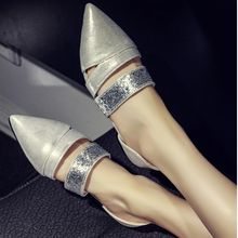 Freesia - Metallic Pointed Flats