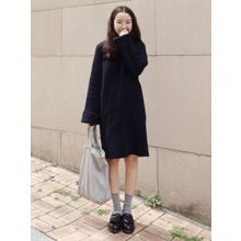 maybe-baby - Cuff-Sleeve Ribbed Knit Dress
