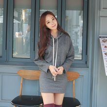 Envy Look - Fleece-Lined Hooded Mini Dress