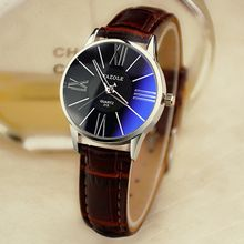 YAZOLE - Faux Leather Strap Watch