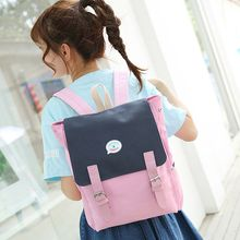 Youme - Set of 2: Color Block Backpack + Pencil Case