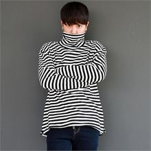 Smallman - Turtle-Neck Stripe T-Shirt